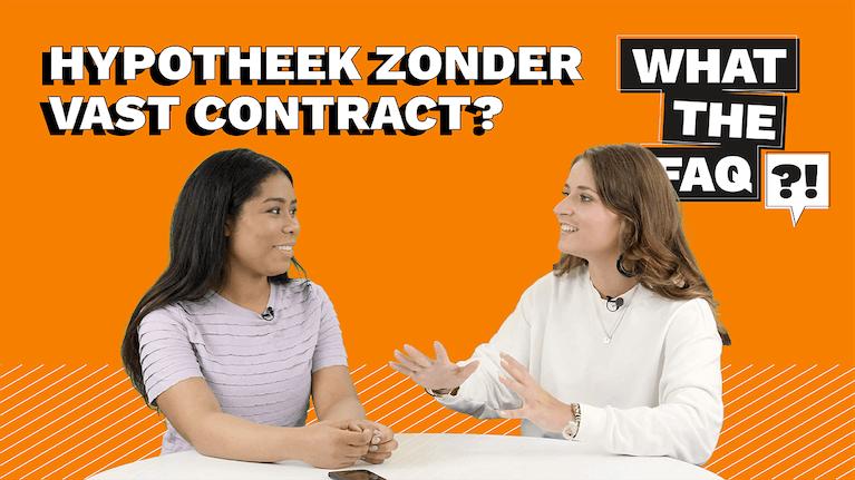 Hoe kan ik een hypotheek zonder vast contract krijgen?