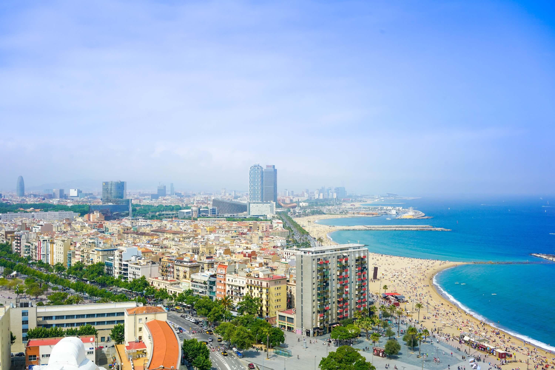 Strand in Barcelona, Spanje