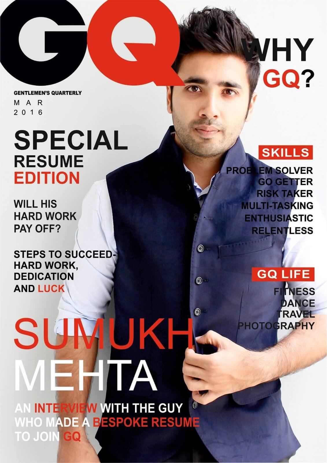 Zeitschriften Cover als Lebenslauf